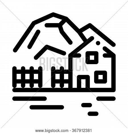 Highlands Village Icon Vector. Highlands Village Sign. Isolated Contour Symbol Illustration