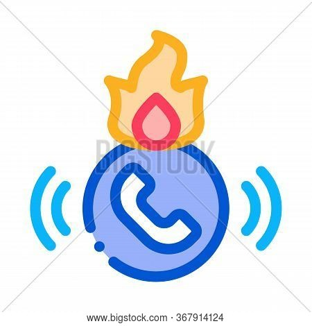 Help Hotline Icon Vector. Help Hotline Sign. Isolated Contour Symbol Illustration