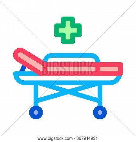 Medical Wheelchair Icon Vector. Medical Wheelchair Sign. Isolated Contour Symbol Illustration