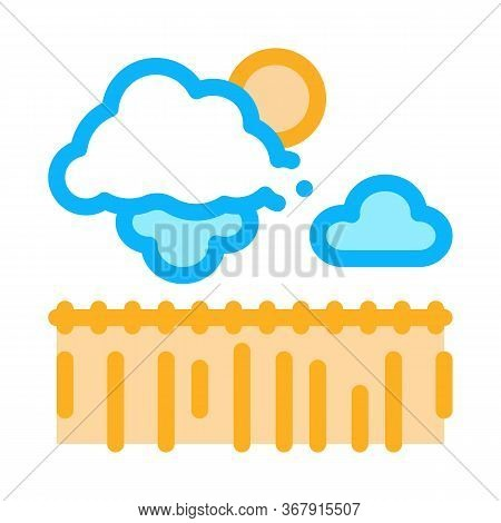 Bad Weather Wheat Field Icon Vector. Bad Weather Wheat Field Sign. Isolated Contour Symbol Illustrat