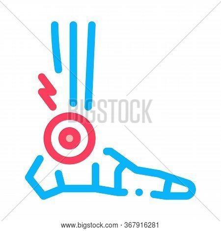 Rheumatoid Arthritis Of Foot Icon Vector. Rheumatoid Arthritis Of Foot Sign. Isolated Contour Symbol