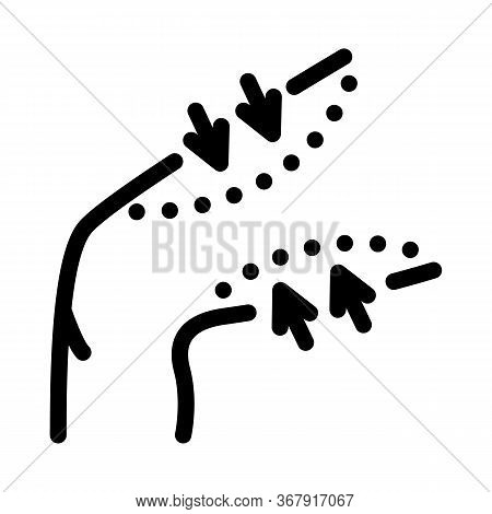 Thigh Liposuction Icon Vector. Thigh Liposuction Sign. Isolated Contour Symbol Illustration