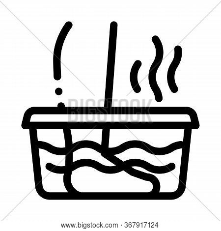 Steaming Foot Bath Icon Vector. Steaming Foot Bath Sign. Isolated Contour Symbol Illustration