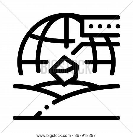 Soil Geography Icon Vector. Soil Geography Sign. Isolated Contour Symbol Illustration