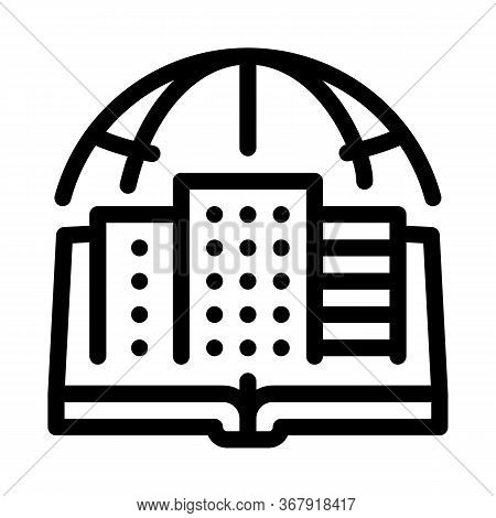 Urban Geography Icon Vector. Urban Geography Sign. Isolated Contour Symbol Illustration