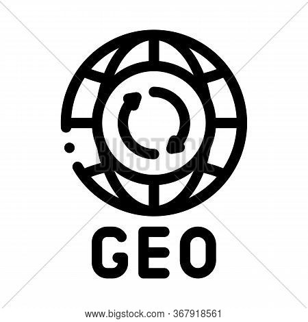 Global Geography Icon Vector. Global Geography Sign. Isolated Contour Symbol Illustration