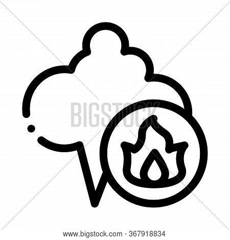 Liquefied Gas Comes Into Cloud Icon Vector. Liquefied Gas Comes Into Cloud Sign. Isolated Contour Sy