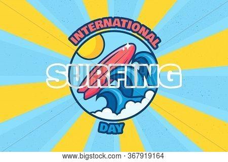 International Surfing Day Banner Summer Surf Event
