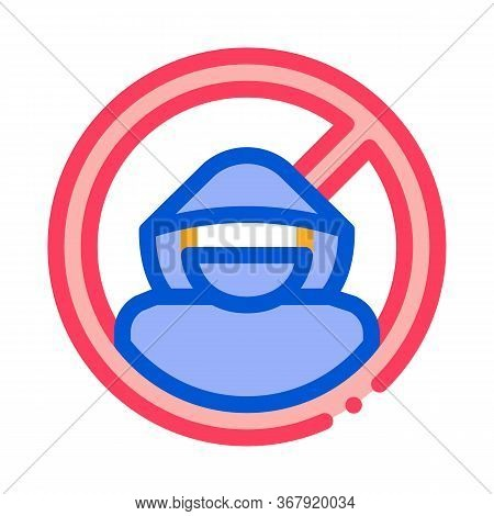Criminal Cracker Icon Vector. Criminal Cracker Sign. Color Symbol Illustration