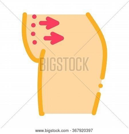 Abdominal Liposuction Icon Vector. Abdominal Liposuction Sign. Color Symbol Illustration
