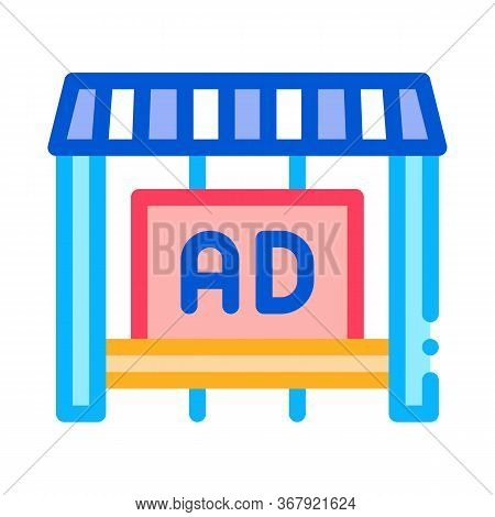 Advertising In Counter Store Icon Vector. Advertising In Counter Store Sign. Color Symbol Illustrati