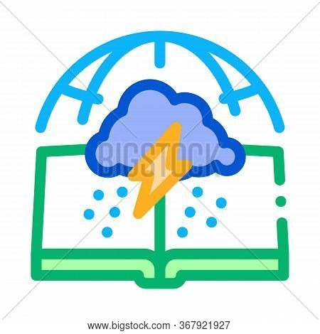 Meteorology Science Icon Vector. Meteorology Science Sign. Color Symbol Illustration