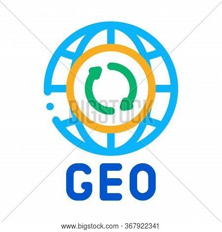 Global Geography Icon Vector. Global Geography Sign. Color Symbol Illustration