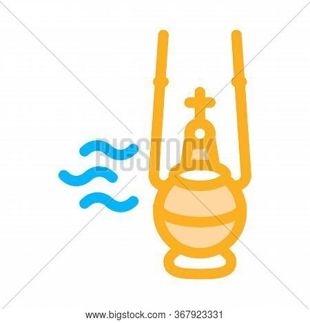 Holy Incense Icon Vector. Holy Incense Sign. Color Symbol Illustration