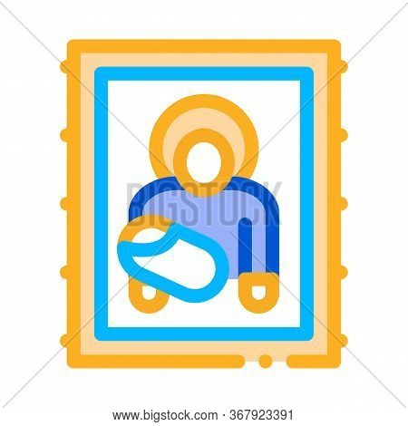 Icon Of Holy Mother Of God Icon Vector. Icon Of Holy Mother Of God Sign. Color Symbol Illustration