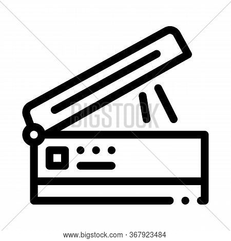 Scanner For Work Icon Vector. Scanner For Work Sign. Isolated Contour Symbol Illustration