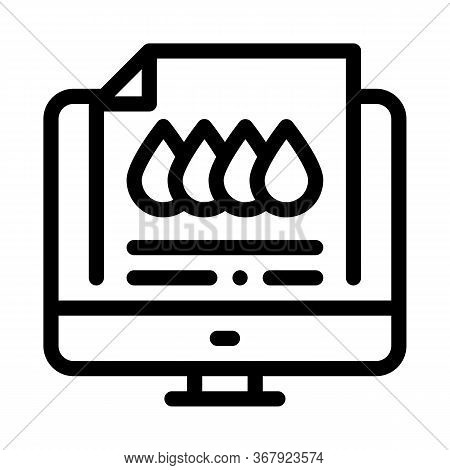 Printed Sheet In Computer Icon Vector. Printed Sheet In Computer Sign. Isolated Contour Symbol Illus