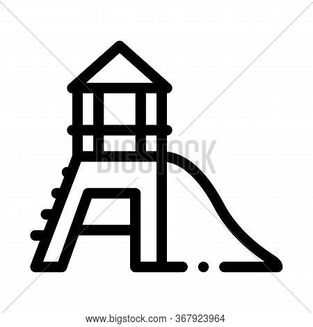 Attraction Children Slide Icon Vector. Attraction Children Slide Sign. Isolated Contour Symbol Illus