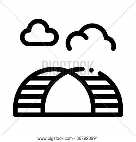 Semicircular Hill Ladder Rainbow Icon Vector. Semicircular Hill Ladder Rainbow Sign. Isolated Contou