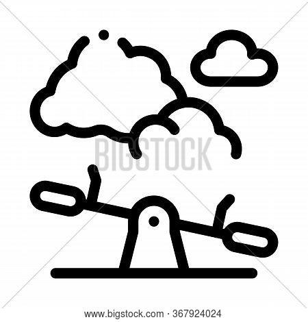 Ground Slide Swing Icon Vector. Ground Slide Swing Sign. Isolated Contour Symbol Illustration