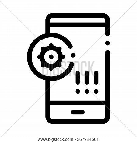 Bacteria Detection On Mobile Phone Icon Vector. Bacteria Detection On Mobile Phone Sign. Isolated Co