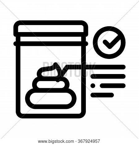 Feces In Vitro Test Icon Vector. Feces In Vitro Test Sign. Isolated Contour Symbol Illustration