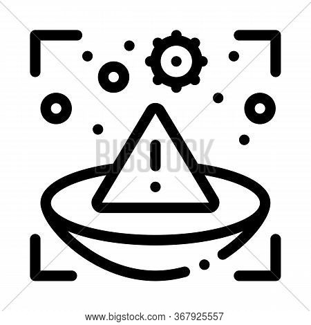 Medically Unsafe Lens Icon Vector. Medically Unsafe Lens Sign. Isolated Contour Symbol Illustration