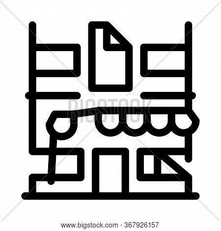 Residential Building For Restoration Icon Vector. Residential Building For Restoration Sign. Isolate