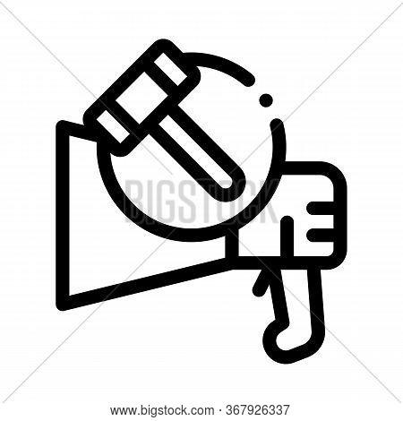Public Bargaining Icon Vector. Public Bargaining Sign. Isolated Contour Symbol Illustration