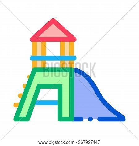 Attraction Children Slide Icon Vector. Attraction Children Slide Sign. Color Symbol Illustration