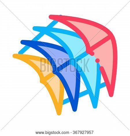 Few Pieces Of Kite Icon Vector. Few Pieces Of Kite Sign. Color Symbol Illustration