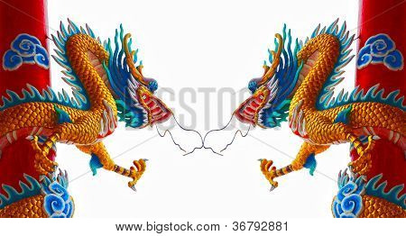 The Chinese Dragon Statue