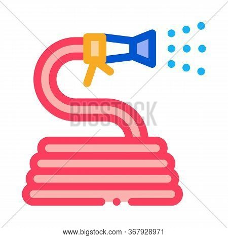 Rolled Hose For Irrigation Icon Vector. Rolled Hose For Irrigation Sign. Color Symbol Illustration