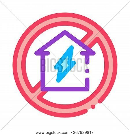 House Sign In Ruin Icon Vector. House Sign In Ruin Sign. Color Symbol Illustration