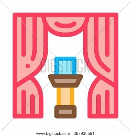 Auction Appearance Icon Vector. Auction Appearance Sign. Color Symbol Illustration