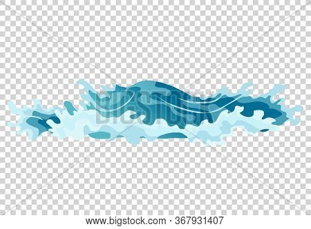 Vector Frame Water Splash For Game Animation. Water Explosion Special Effect Fx Animation Frame On T