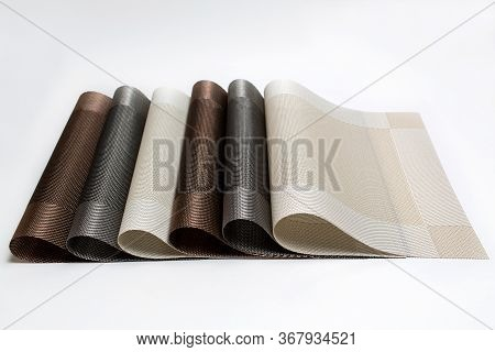 Close up of isolated placemats for food.