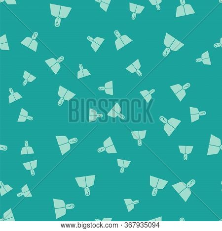 Green Anonymous Man With Question Mark Icon Isolated Seamless Pattern On Green Background. Unknown U