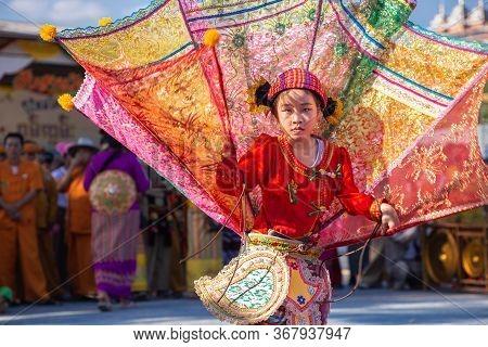 Thoet Thai, Chiang Rai - Thailand, November 27, 2019 : Group Of Shan Or Tai Yai (ethnic Group Living