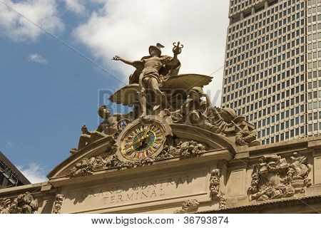Sculpture Above Grand Central Station, New York