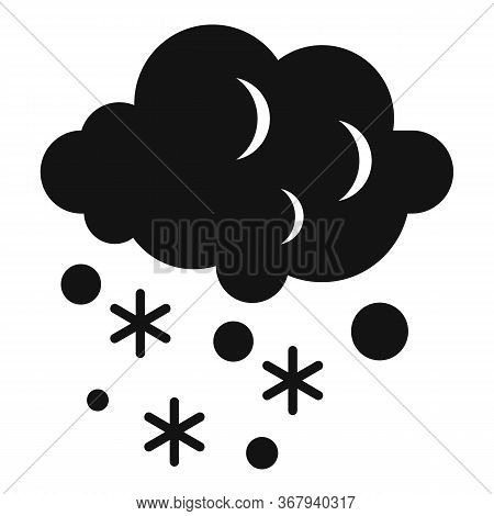 Cloud Blizzard Icon. Simple Illustration Of Cloud Blizzard Vector Icon For Web Design Isolated On Wh