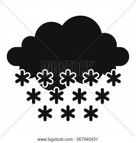Meteorology Blizzard Icon. Simple Illustration Of Meteorology Blizzard Vector Icon For Web Design Is