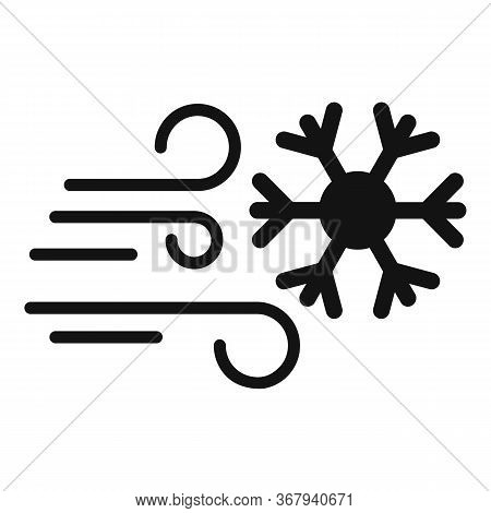 Forecast Blizzard Icon. Simple Illustration Of Forecast Blizzard Vector Icon For Web Design Isolated