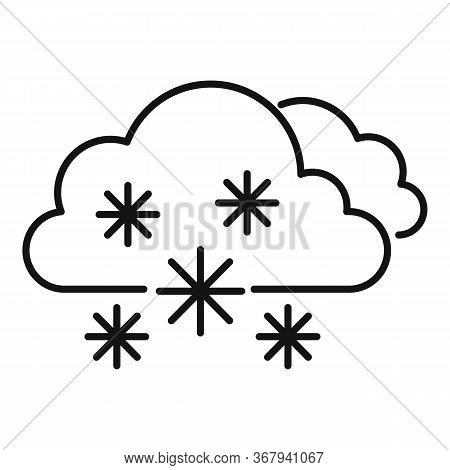 Weather Blizzard Icon. Outline Weather Blizzard Vector Icon For Web Design Isolated On White Backgro