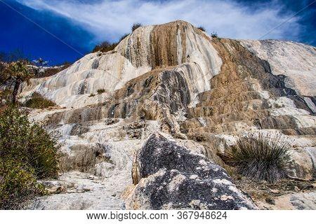 Impressive Rocky Phenomenon In Place Of Hierve De Agua In Southern Mexico