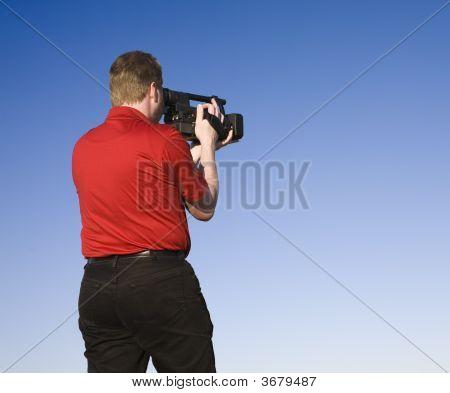 Videographer Shooting Footage