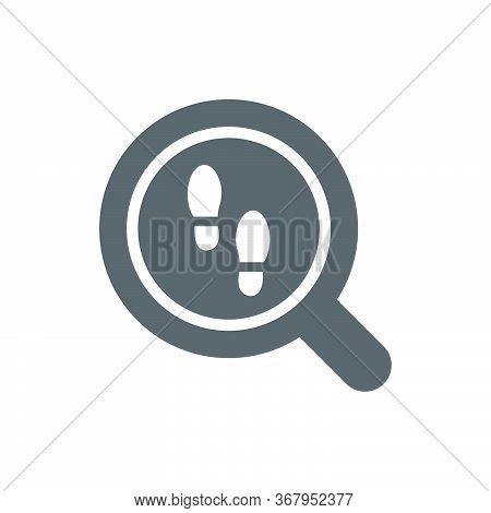 Looking For Clues Vector Icon Symbol Finding Isolated On White Background