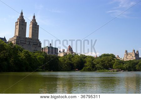 The Central Park Lake, New York
