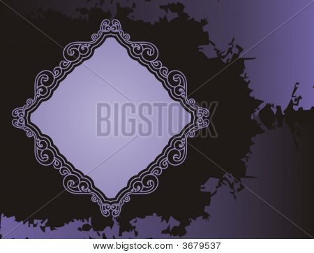 Purple Grunge Frame