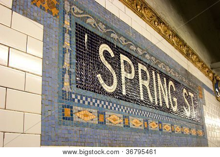 Spring St. Subway Stop, New York